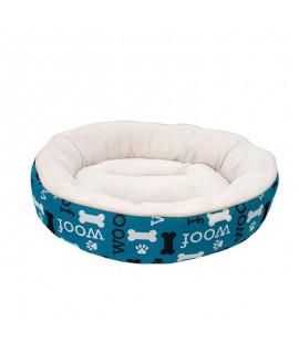 Dogit Dreamwell Cama Redonda Woof Azul