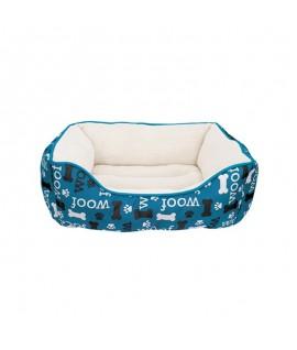Dogit Dreamwell Cama Rectangular Woof Azul