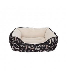 Dogit Dreamwell Cama Rectangular Woof Negra