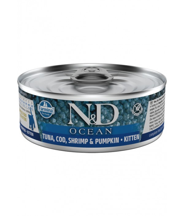 N&D Cat Ocean Tuna, Cod, Shrimp & Pumpkin Kitten
