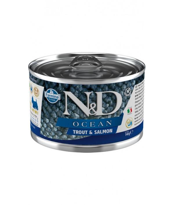 N&D Dog Ocean Trout & Salmon Mini
