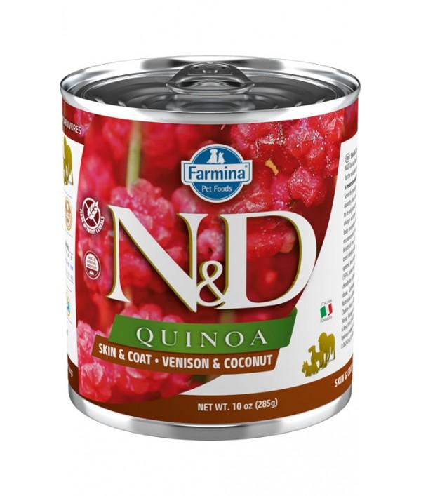 N&D Dog Quinoa Skin & Coat Venison & Coconut