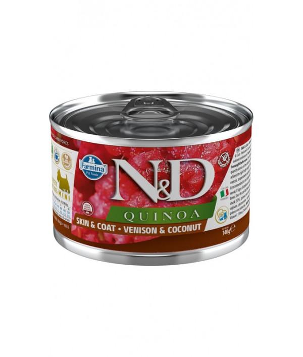 N&D Dog Quinoa Skin & Coat Venison & Coconut Mini