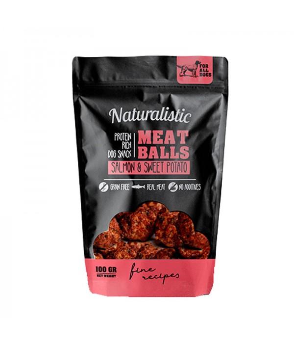 Naturalistic Metaballs Salmon And Sweet Potato