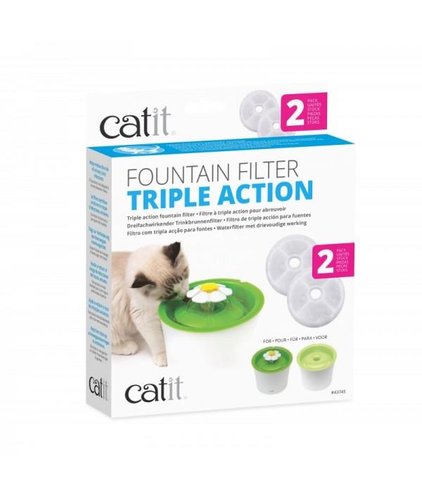 Catit Filtro Fuente Triple Accion 2 Un
