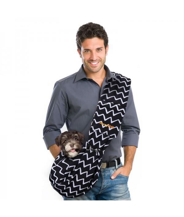 FurryFido Bolso Pet Sling Ajustable Negro