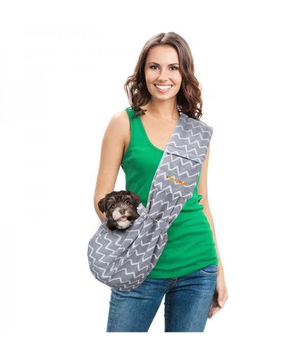 FurryFido Bolso Pet Sling Ajustable Gris