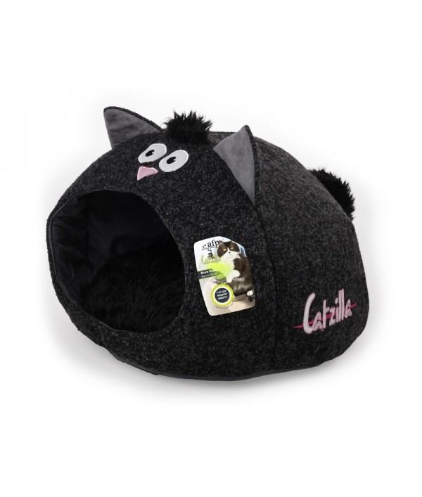 Afp Catzilla Cama Meow Cat Negra