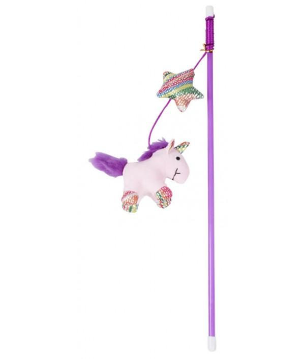 Pawise Varita Unicornio Rosado con Catnip