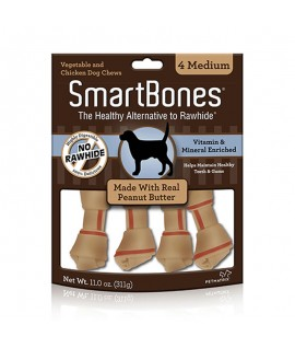 Smartbones Peanut Butter Medium, 4u