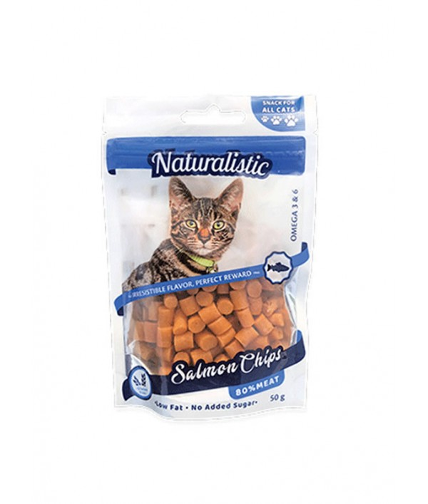 Naturalistic Salmon Chips For Cats