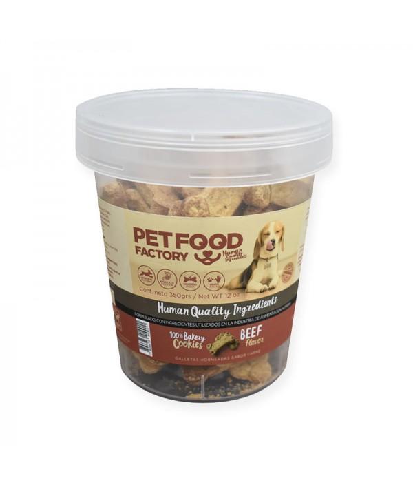 Pet Food Factory Galleta Horneada Sabor Carne (Pote)