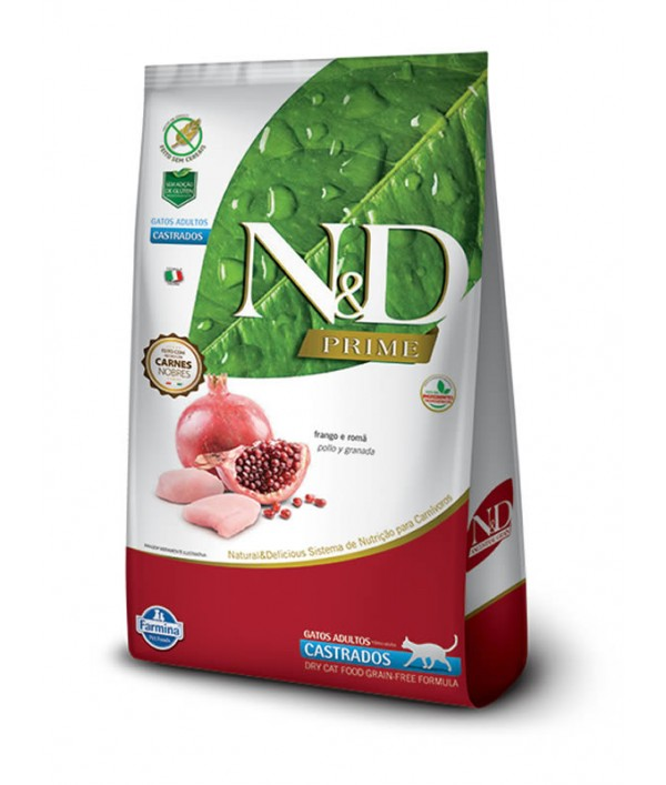 N&D Pollo y Granada Adult Felino Castrado