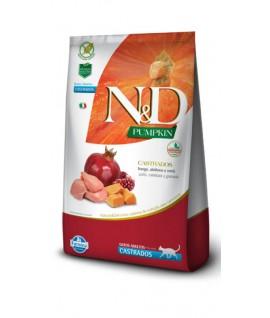 N&D Pollo, Calabaza y Pomegrande Adult Felino Castrado
