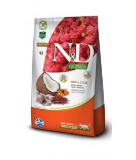 N&D Quinoa Skin & Coat Pescado Felino