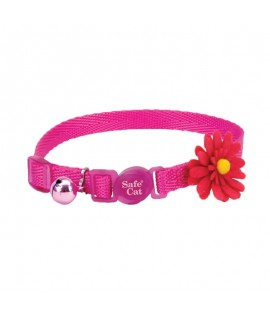 Coastal Embellished Collar Cat Flower Pink