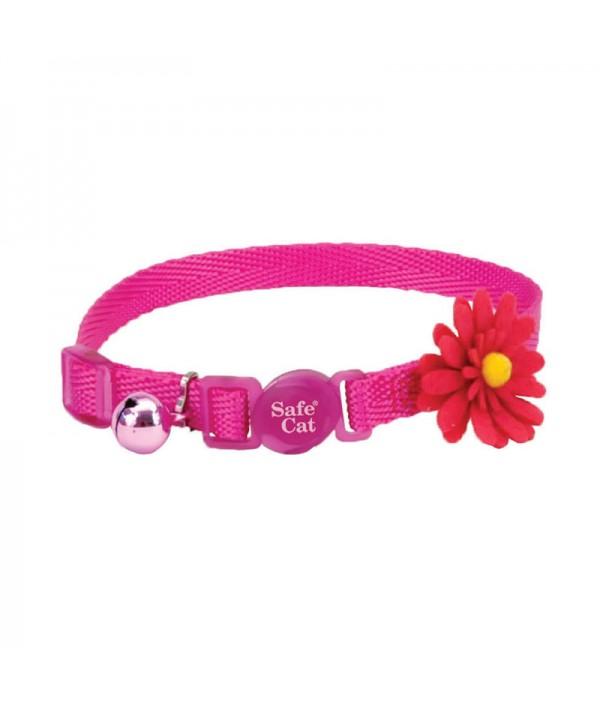 Coastal Embellished Collar Cat Flower Pink