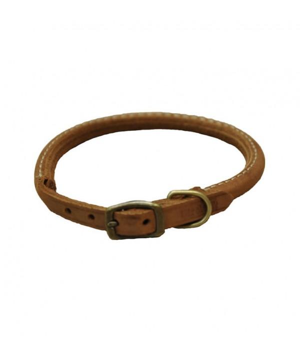 Coastal Circle-T Collar Redondo Cuero Rústico Chocolate